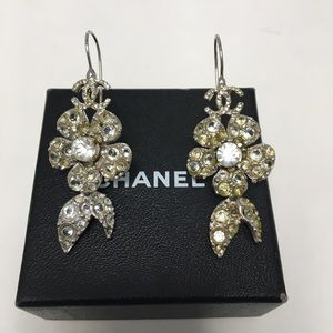 Authentic CHANEL Crystal Drop Earrings